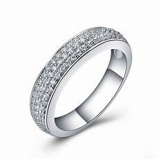 high quality synthetic diamonds wedding band ring jewelry