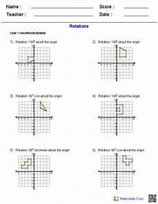 rotation worksheets geometry worksheets transformations worksheets