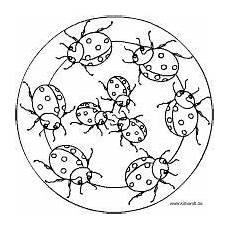 Ausmalbilder Erwachsene Insekten Malvorlage Marienk 228 Fer Mandalas K 228 Fern Und Anderen