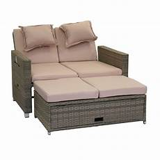 Lounge Sofa Balkon - rattan klapp sofa bett klappbett klappsofa gartenliege