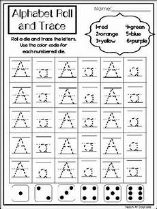 26 alphabet roll and trace printable worksheets preschool