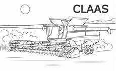 Malvorlagen Traktor Claas Ausmalbilder Mahdrescher Claas