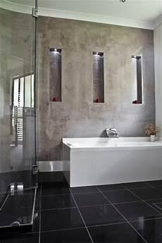 Polished Plaster Modern Bathroom Brisbane By