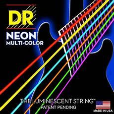 Dr Hi Def Neon Multi Color K3 Coated Bass Guitar Strings