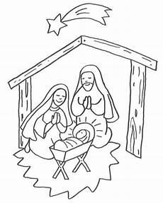 Ausmalbilder Weihnachten Christkind Kostenlose Malvorlage Weihnachten Jesus Geburt Im Stall