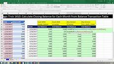 excel magic trick 1410 calculate closing balance for each