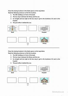 directions exercises esl 11673 giving directions worksheet free esl printable worksheets made by teachers
