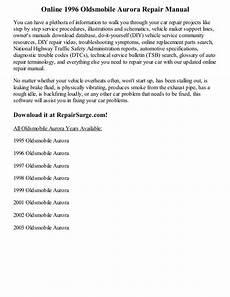 auto repair manual online 2003 oldsmobile aurora parking system 1996 oldsmobile aurora repair manual online