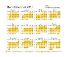 mondkalender 2019 mondkalender kalender und mondphasen