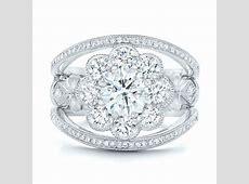 Custom Diamond Interlocking Engagement Ring #102845
