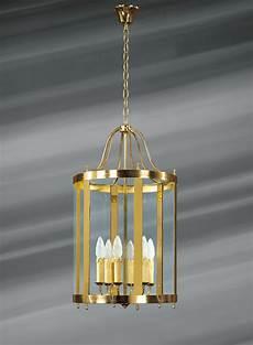 lanterne en verre et bronze massif de style classique 224