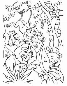 jungle animals coloring pages for kindergarten 17049 jungle coloring pages with images animal coloring books animal coloring pages
