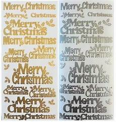 merry christmas peel off stickers holly card making gold or silver ebay