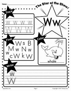 worksheets for letter w letter w worksheet tracing coloring writing more supplyme