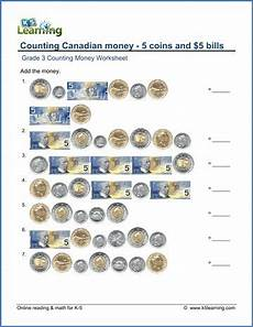 grade 3 math worksheets money canadian word problems 2529 grade 3 counting money worksheet on counting canadian money the 5 coins and 5 bills math