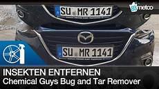 Insekten Entfernen Auto - insektenentferner extrem test chemical guys bug and tar