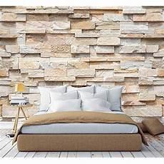 steinwand tapete wohnzimmer murimage fototapete steinwand 3d optik 366 x 254cm
