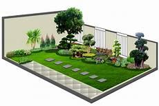 Contoh Model Desain Taman Rumah Ide Berkebun Desain Taman