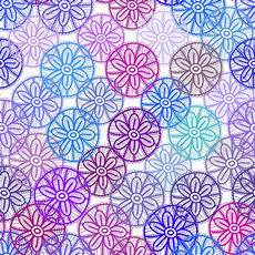 Lace Seamless Pattern With Lilac Pink Purple Blue Flowers