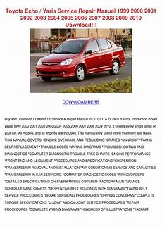 vehicle repair manual 2003 toyota echo engine control toyota echo yaris service repair manual 1999 by shellaroyster issuu