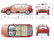 citroën c4 dimensions tutorials3d blueprints citroen c4 coupe