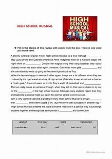 free worksheets for high school 19257 high school musical review worksheet free esl printable worksheets made by teachers