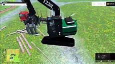 farming simulator 2015 fdr t220l grapple loader excavator mod youtube