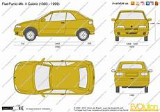 dimension fiat punto fiat punto mk ii cabrio vector drawing