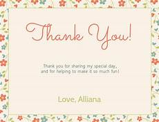 copy of floral thank you card template postermywall