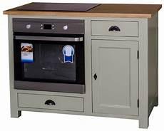 meuble four et plaque de cuisson en pin massif