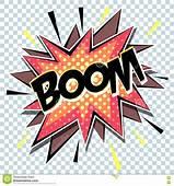 Retro Cartoon Explosion Pop Art Comic Boom Vector Stock