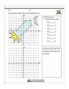 coordinate grid shapes teaching ideas math worksheets coordinate geometry math crafts