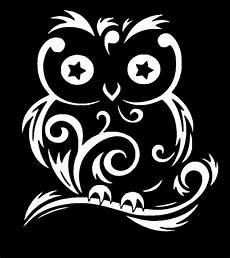 owl swirls white vinyl sticker decal car truck jdm