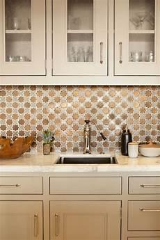 Copper Tiles For Kitchen Backsplash Kitchen Glossy Copper Tile Backsplash For Contemporary