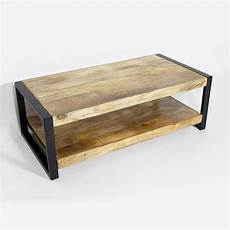 table basse industrielle table basse industrielle deux plateaux made in meubles