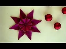 weihnachtssterne selber basteln weihnachtssterne basteln mit geschenkband diy