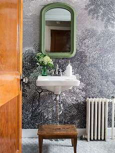 Wall Ideas For A Bathroom by How To Install Wallpaper In A Bathroom Hgtv
