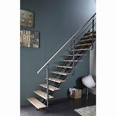escalier bois droit escalier droit mona structure aluminium marche bois
