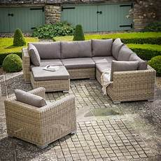 garden trading marden modular corner sofa set in pe rattan