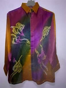 kemeja batik abstrak lelaki batik sutera qaseh collection