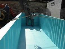 Construction Of A Storage Container Swimming Pool