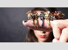 Black Magic Jewelry : Four Skull Ring
