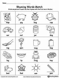 kindergarten rhyming printable worksheets myteachingstation com