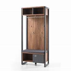 Garderobe Detroit Industrial Style Stirling Oak