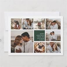 modern merry christmas photo collage card with images christmas photos merry christmas