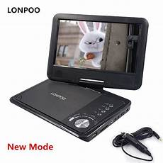 lonpoo new 9 inch portable dvd player swivel screen vcd cd