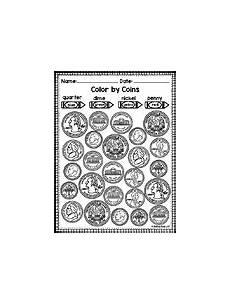 identifying coins worksheet teachers pay teachers