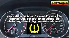 Vw Golf 7 Reset Recalibrated Tpms Tire Pressure Monitoring