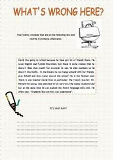 identifying spelling mistakes worksheets 22483 what 180 s wrong here error correction esl worksheet by xana f
