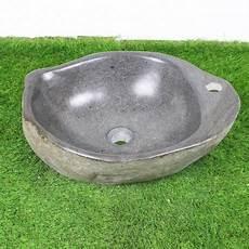 vasque 224 poser en galet de rivi 232 re 50 37 cm et per 231 age